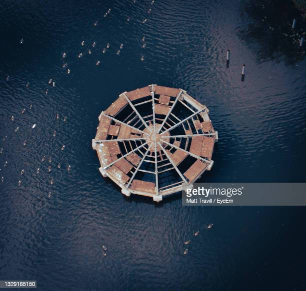 high angle view of feature in lake - northampton stock pictures, royalty-free photos & images