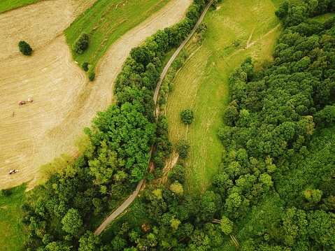 High Angle View Of Field - gettyimageskorea