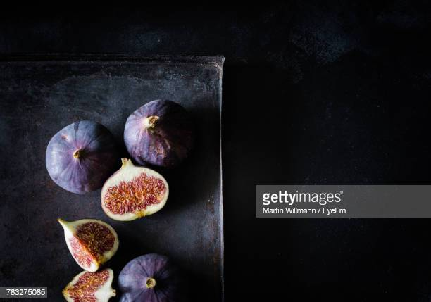 High Angle View Of Figs