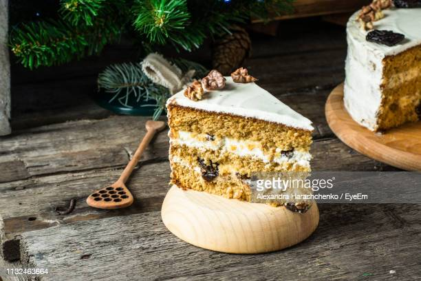 high angle view of food on table - carrot cake stock pictures, royalty-free photos & images
