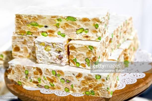high angle view of food on table - nougat stock pictures, royalty-free photos & images