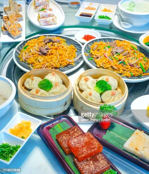 high angle view of food on table - jesse stock pictures, royalty-free photos & images