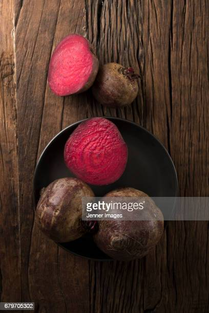 High Angle View Of Fresh Beetroots.