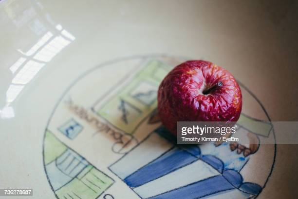 High Angle View Of Fruit On Plate