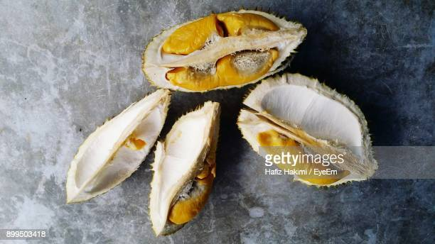 high angle view of fruit on slate - hakimi stock photos and pictures