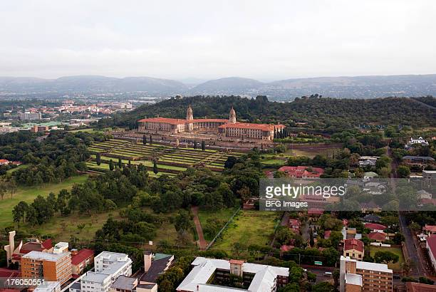 high angle view of government building, union buildings, gauteng province, south africa - tshwane stock pictures, royalty-free photos & images