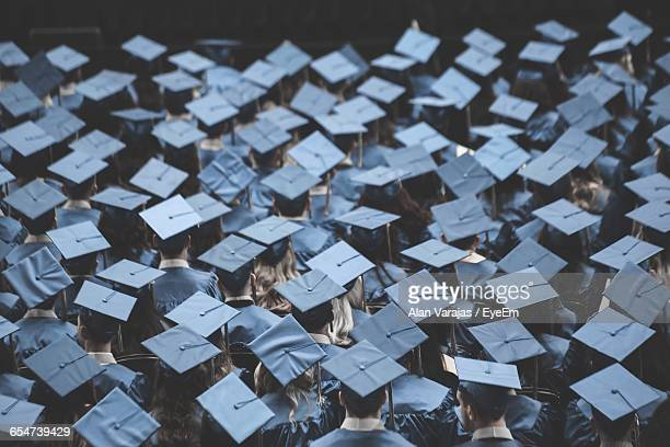 High Angle View Of Graduates