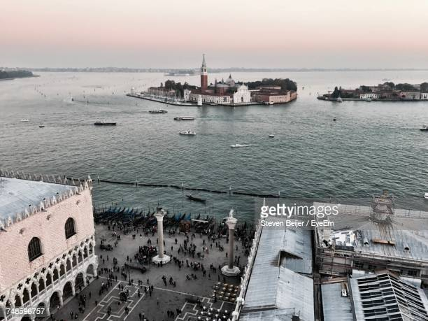 High Angle View Of Grand Canal Seen From Piazza San Marco In City