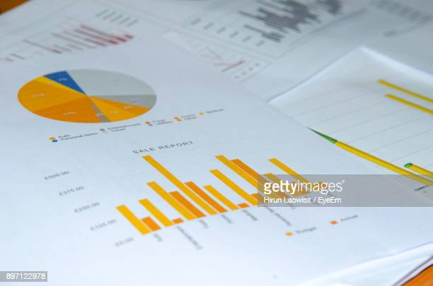 High Angle View Of Graphs