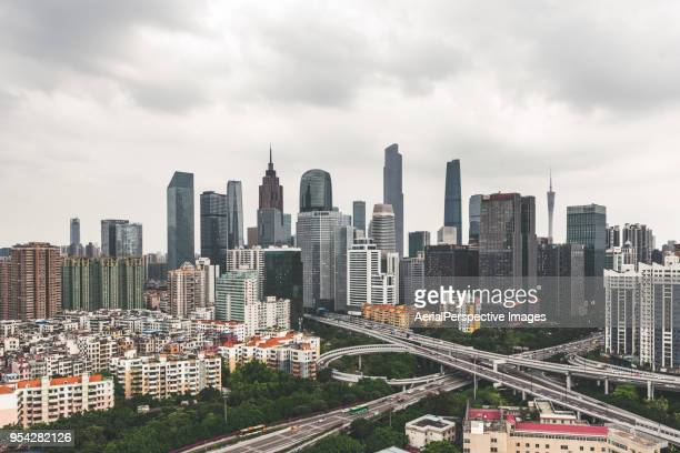 High Angle View of Guangzhou Urban Skyline