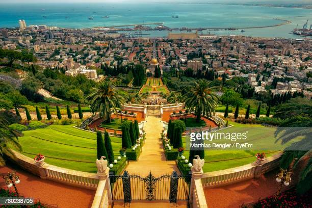 high angle view of halfa - haifa stock pictures, royalty-free photos & images