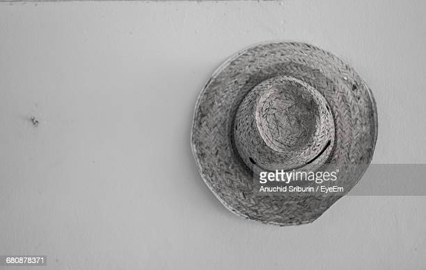 High Angle View Of Hat