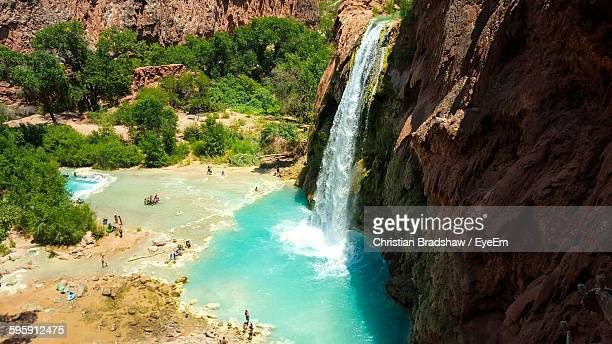 High Angle View Of Havasu Falls