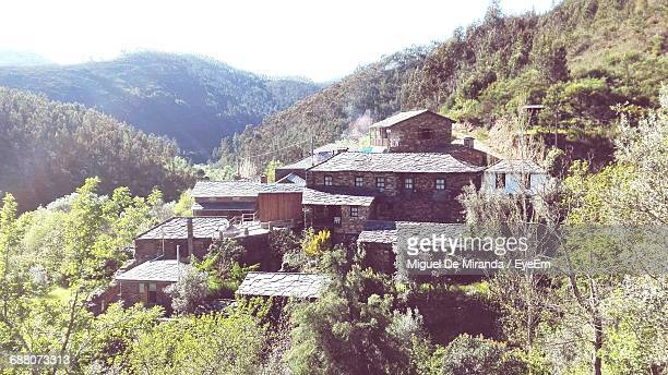 High Angle View Of Houses At Schist Village