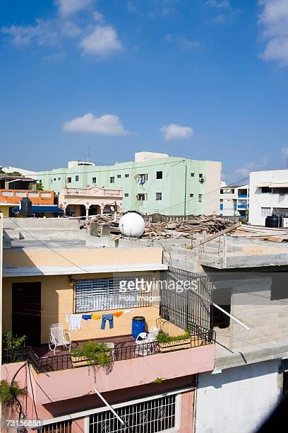 High angle view of houses in a city, Santo Domingo, Dominican Republic, North America