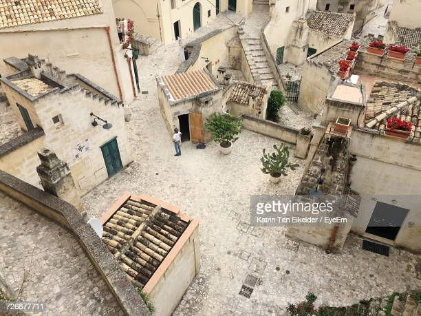 High Angle View Of Houses In Sassi Di Matera