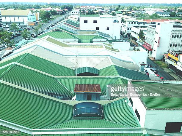 High Angle View Of Houses Roof