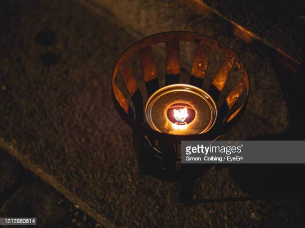 high angle view of illuminated lamp - colbing stock pictures, royalty-free photos & images