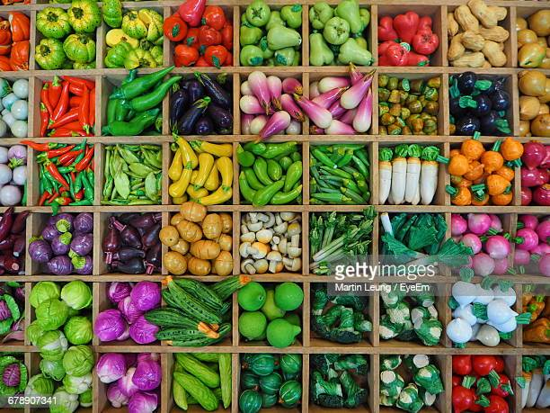High Angle View Of Imitation Food In Chatuchak Market