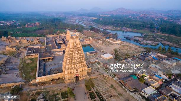 High Angle View Of Indian Temple
