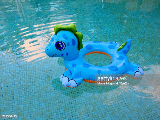 High Angle View Of Inflatable Toy In Swimming Pool