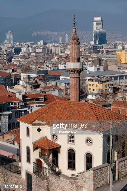 high angle view of izmir city on a sunny day. - emreturanphoto stock pictures, royalty-free photos & images