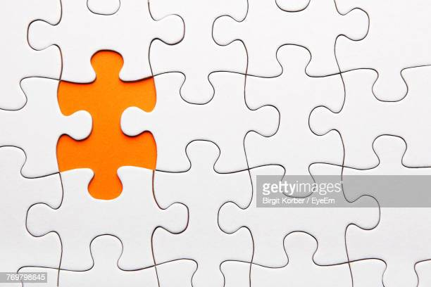 High Angle View Of Jigsaw Puzzle