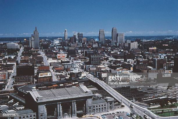 A high angle view of Kansas City from the Liberty Memorial Missouri USA circa 1960