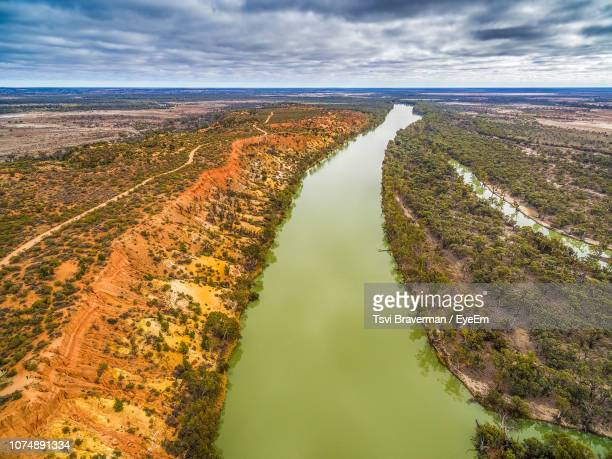 high angle view of land against sky - south australia stock pictures, royalty-free photos & images