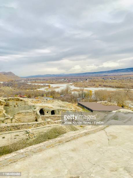 high angle view of land against sky - jessa stock pictures, royalty-free photos & images