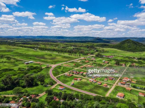 high angle view of landscape against sky - paraguay stock pictures, royalty-free photos & images