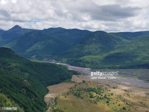 high angle view of landscape against sky - leren stock pictures, royalty-free photos & images