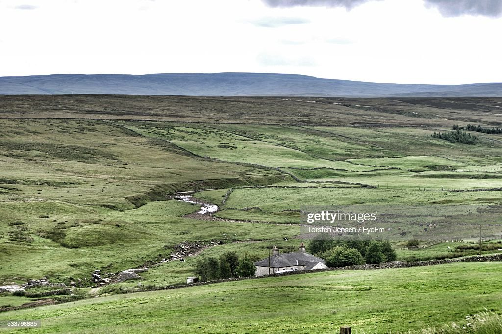 High Angle View Of Landscape Against Sky : Foto stock