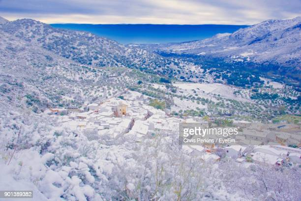 High Angle View Of Landscape Against Sky