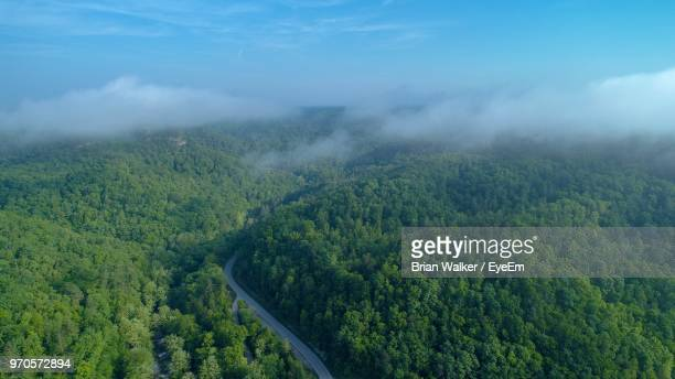 high angle view of landscape against sky - kentucky stock pictures, royalty-free photos & images