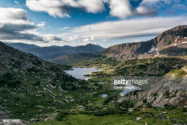 high angle view of landscape at white river national forest against sky - white river national forest stock photos and pictures