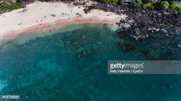 high angle view of landscape - haleiwa - fotografias e filmes do acervo