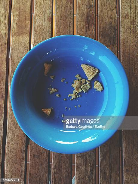 High Angle View Of Leftovers In Bowl