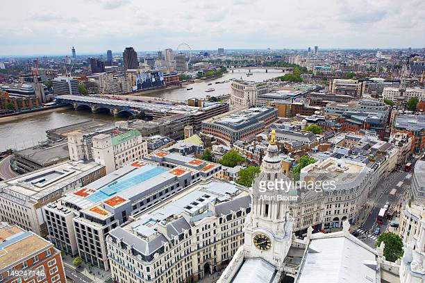 High angle view of London