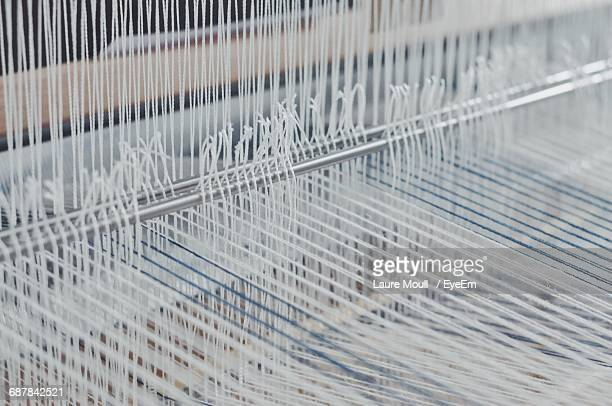 High Angle View Of Loom