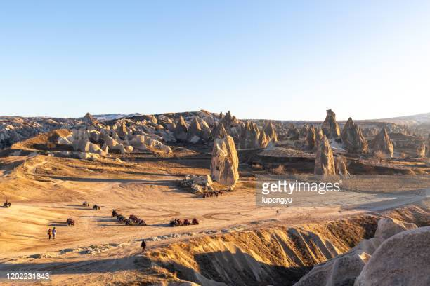 high angle view of love valley at cappadocia - アナトリア ストックフォトと画像