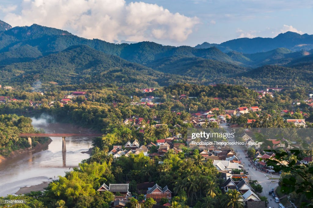 High Angle View Of Luang Prabang : Stock-Foto