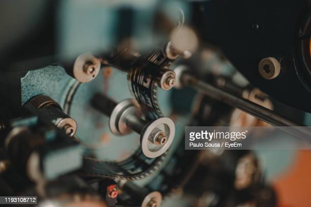 high angle view of machine part - メディア機材 ストックフォトと画像