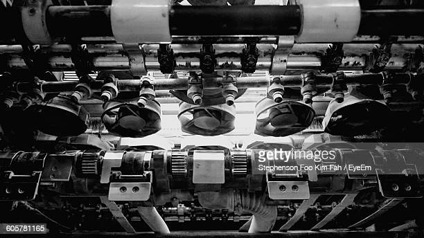 High Angle View Of Machines