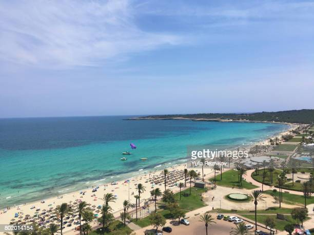 high angle view of majorca island - palma majorca stock photos and pictures