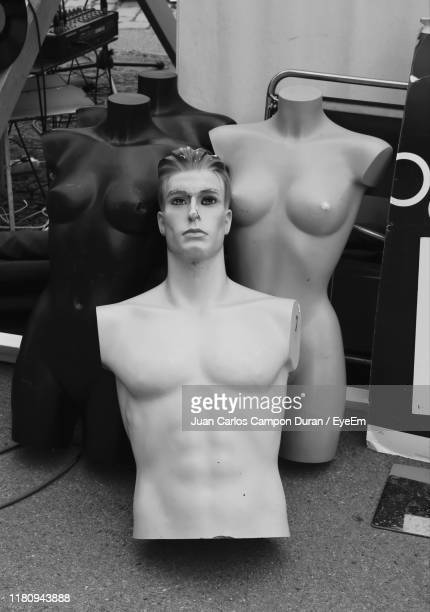 high angle view of mannequins - male likeness stock pictures, royalty-free photos & images
