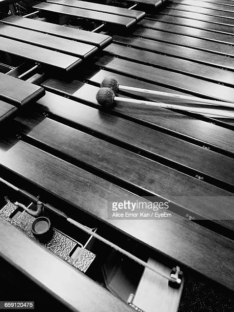 high angle view of marimba - percussion mallet stock pictures, royalty-free photos & images
