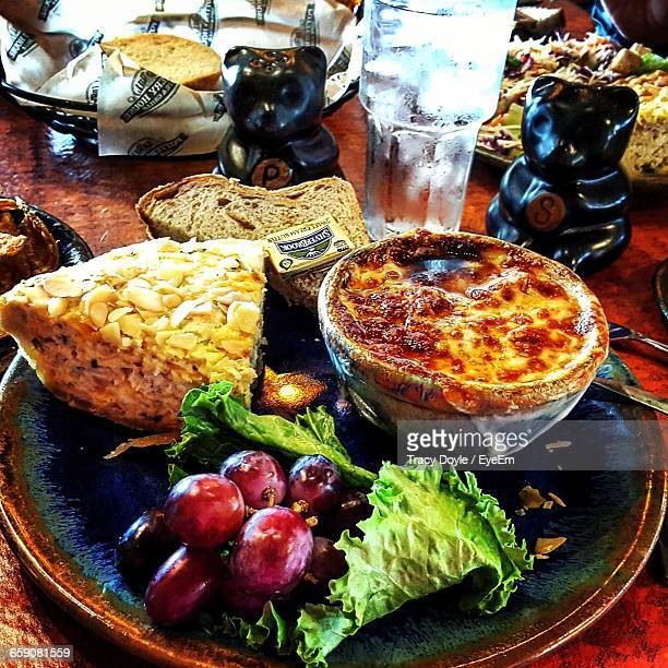 high angle view of meal served on table - pigeon forge stock pictures, royalty-free photos & images