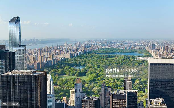 High angle view of midtown Manhattan and Central Park, New York, USA