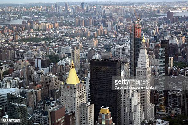 high angle view of modern cityscape - carolina fragapane stock pictures, royalty-free photos & images